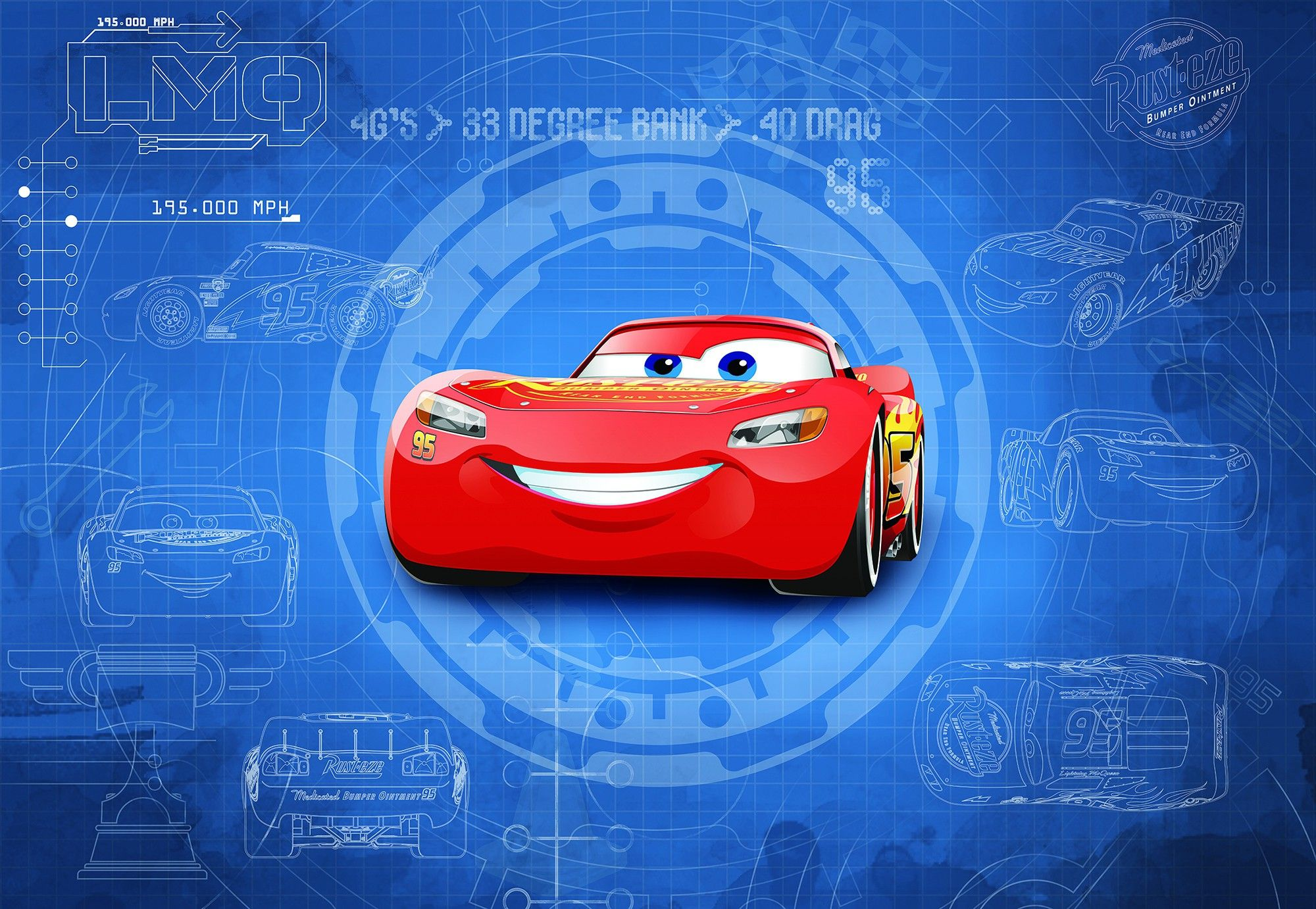 Cars 3 disney wall mural wallpaper buy it now - Disney cars wallpaper ...